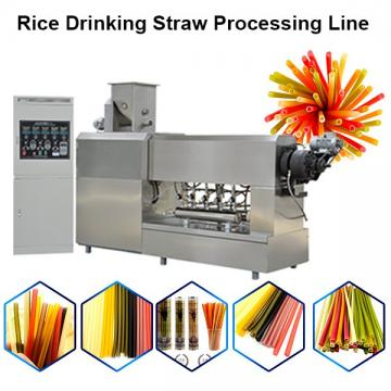 Full Automatic Eco-Friendly Edible Pasta Drinking Straw Making Machine / Disposable Straw ...