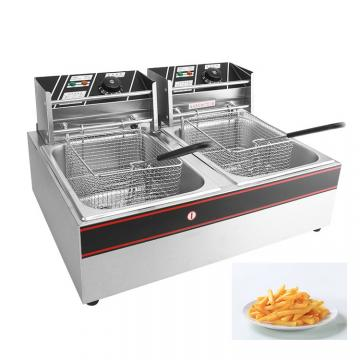 2*12L Two Jars Commercial Stainless Steel Electric Chicken Donut Fish Fryer Potato Chips Deep Fryer